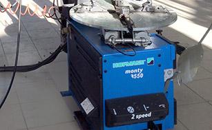 Монтажный станок для низкопрофильных колес